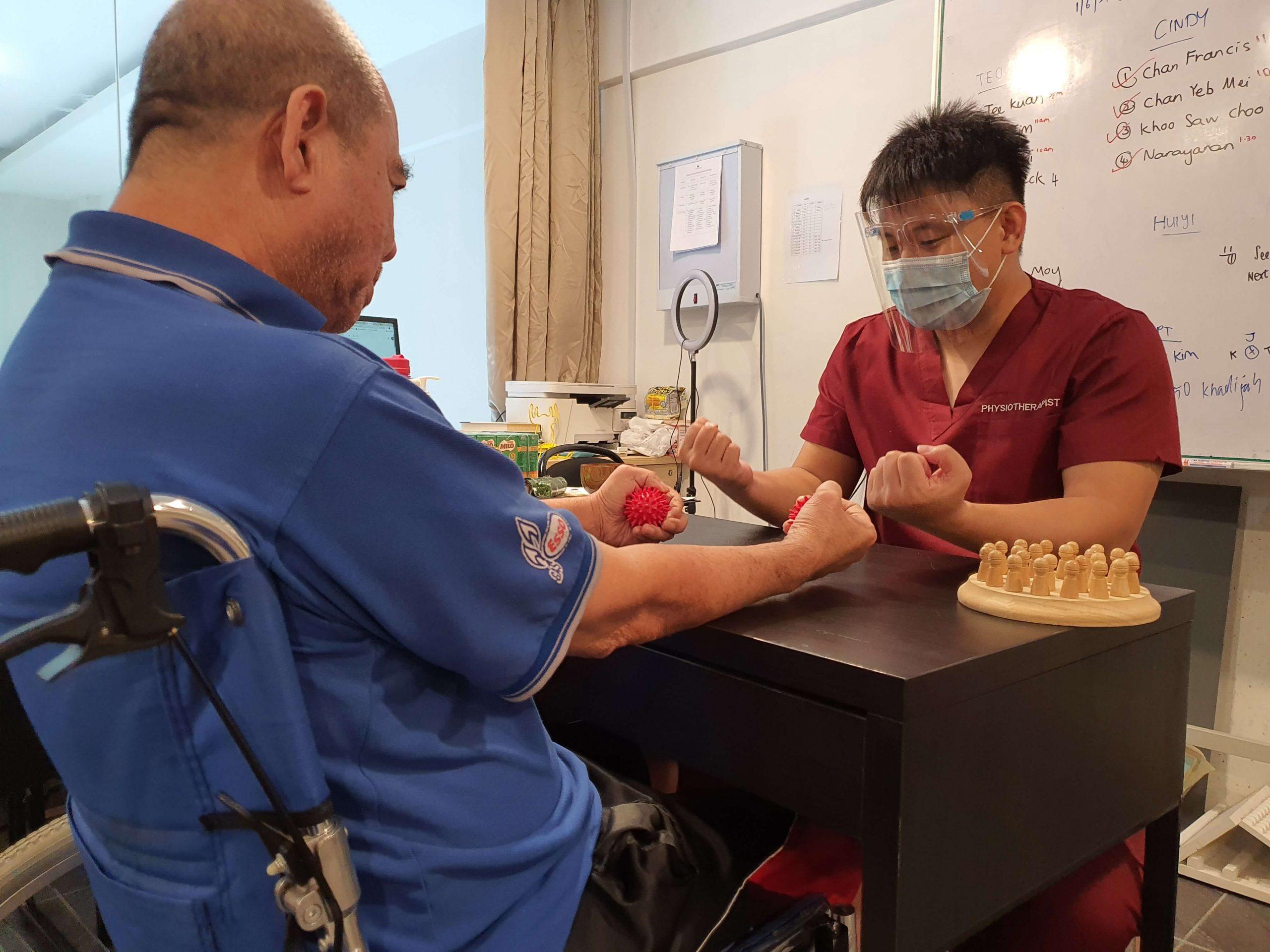 Physio rehab session